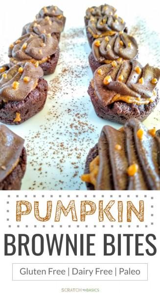 Pumpkin brownie bites - paleo, gf, df