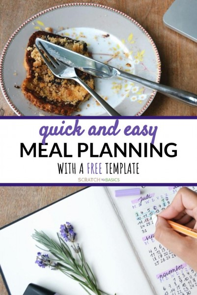 Quick and easy meal planning with a free meal plan template
