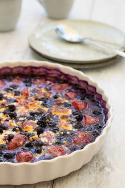 Berry bake in a dish