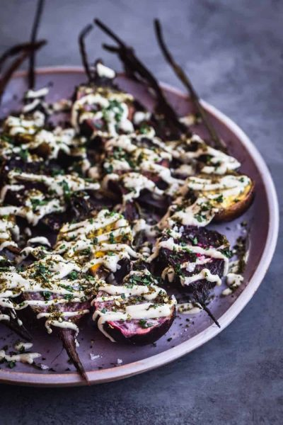 Roasted Beets With Tahini by Waves in the Kitchen