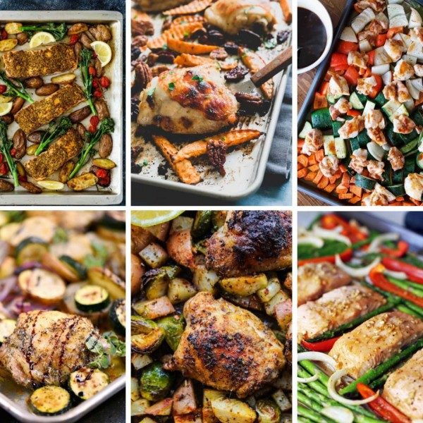 awesome sheet pan dinners to make tonight