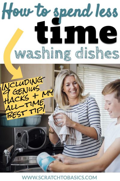 spend less time washing dishes