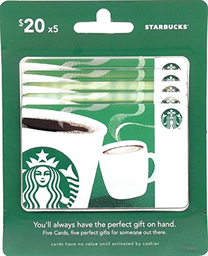 A great teacher gift is a Starbucks gift card.