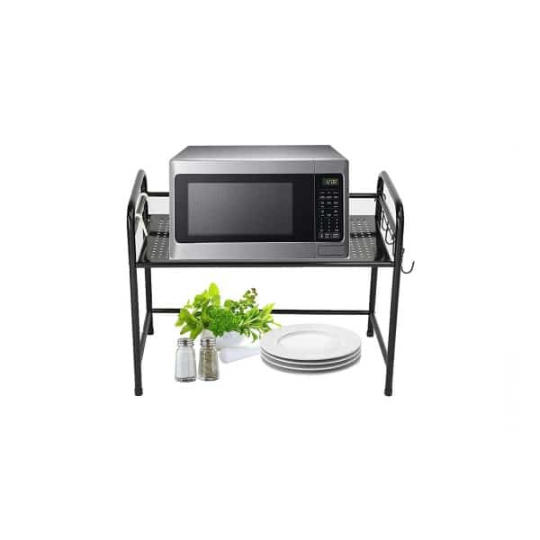 Use this stand to hold your microwave instead of using valuable counter space to hold it.