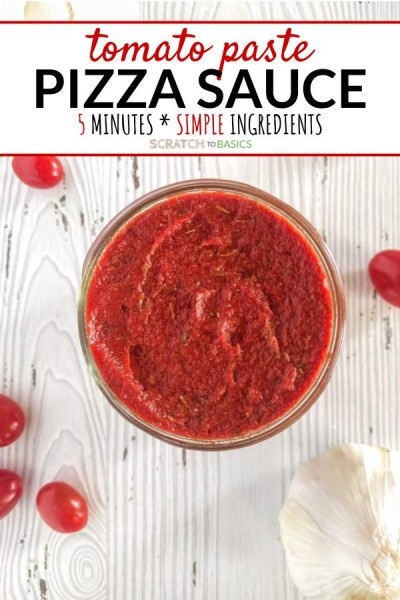 Pizza sauce made with tomato paste...ready in five minutes!