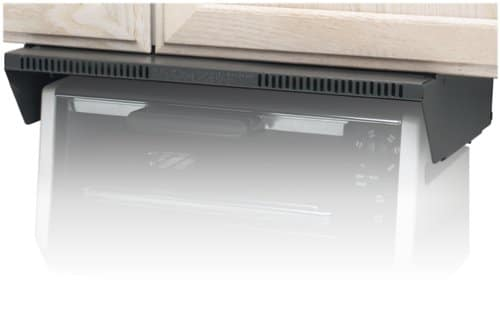 Mount your toaster oven to under the cabinet for more clutter-free counter space.