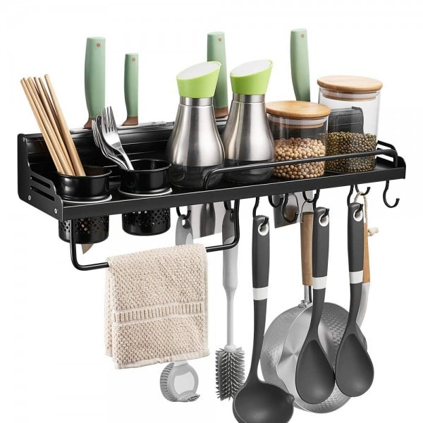 Move the clutter off the counter for more cooking room.