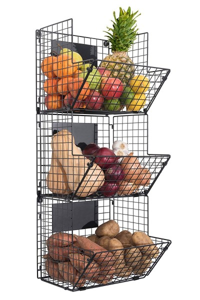 More produce baskets for the wall in your kitchen.