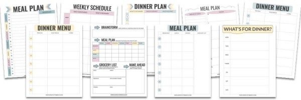 Meal Planning Template Bundle