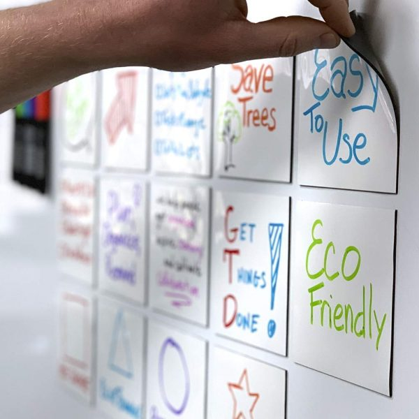 White board sticky note magnets