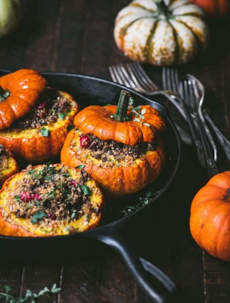 Wild rice stuffed pumpkins by Crowded Kitchen