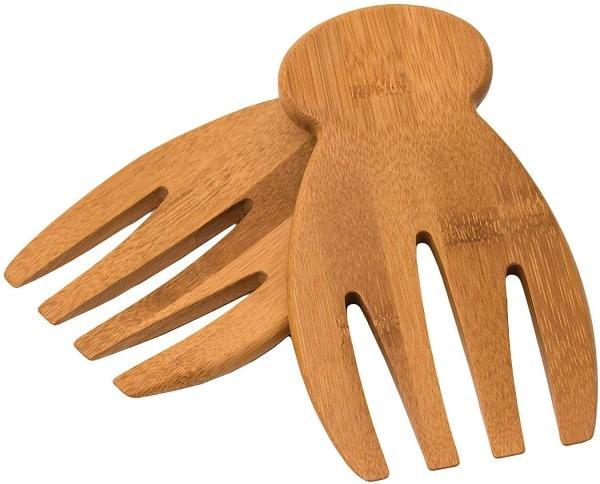 Bamboo salad hands make a great kitchen gift