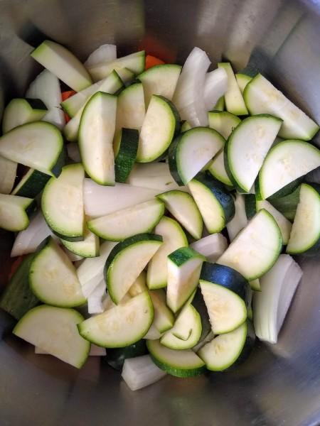Finally, add the zucchini